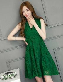 dress brukat korea D4467