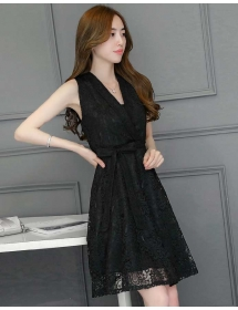 dress brukat korea D4468