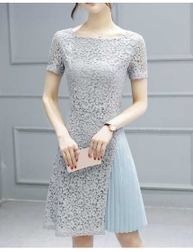 dress brukat korea D4471