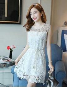 dress brukat korea D4474