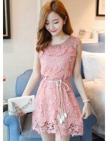 dress brukat korea D4475