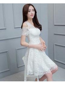 dress brukat korea D4479