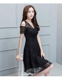 dress brukat korea D4480