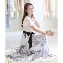 long dress chiffon D4481