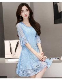 dress brukat korea D4485