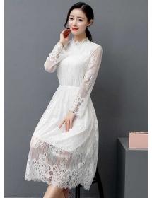 long dress brukat D4488