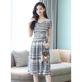 Midi Dress Korea D4928 Moro Fashion