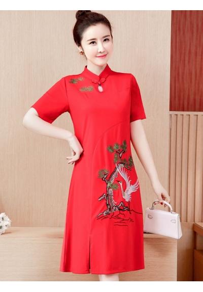 Dress Cheongsam Import D5721
