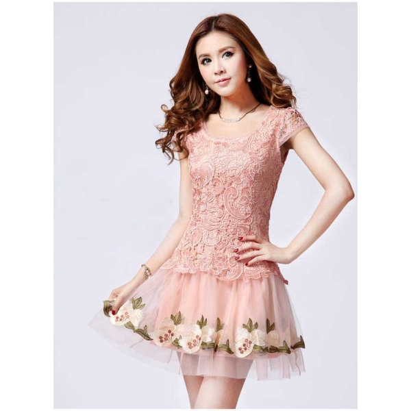 Gaun Pesta Wanita Model Korea D1396 Moro Fashion