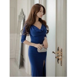 Long Dress Pesta Model Korea D1460 Moro Fashion
