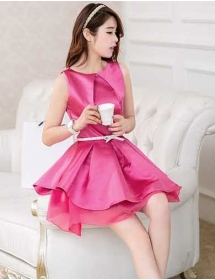 Gaun Pesta Wanita Korea D1555 Moro Fashion