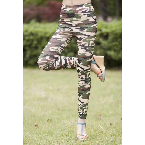 Celana Legging Motif Army T2124 Moro Fashion