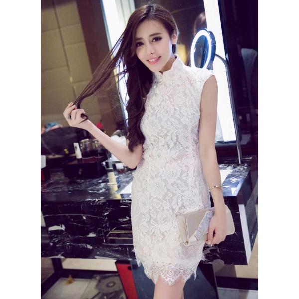 Gaun Pesta Brukat Kerah Shanghai D2173 Moro Fashion