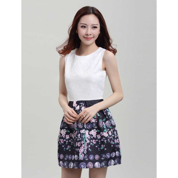 Dress Wanita Korea D2325 Moro Fashion
