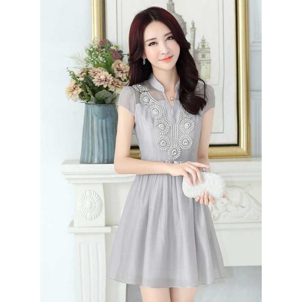 Dress Wanita Korea D2412 Moro Fashion
