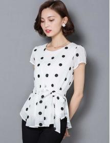 blouse polkadot T3054