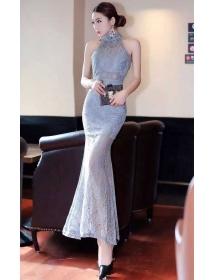 long dress brukat D3164