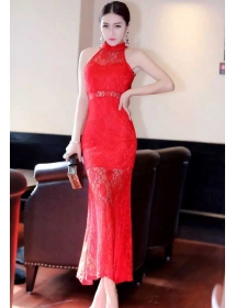 long dress brukat D3165