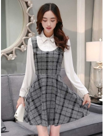 dress korea lengan panjang D3188