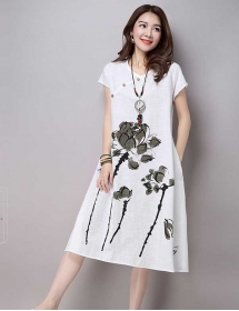 midi dress korea D3190