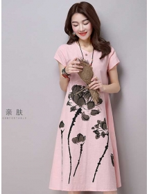 midi dress korea D3191