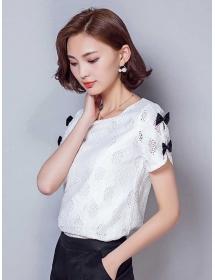 blouse brukat korea T3082