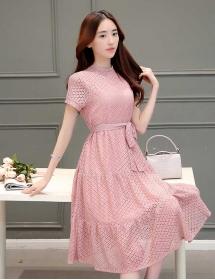 dress brukat korea D3198