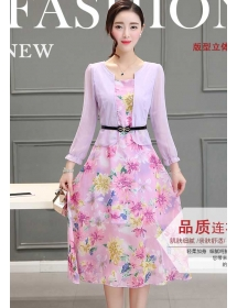 midi dress korea D3206