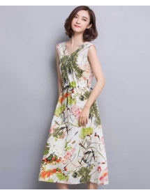 long dress v-neck D3247
