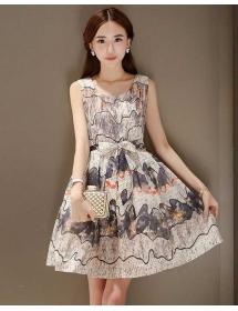 dress wanita korea D3260