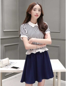 dress wanita korea D3261