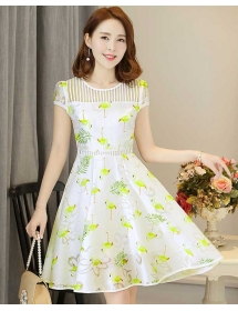dress wanita korea D3262