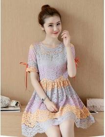 dress brukat korea D3281