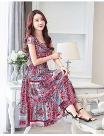 long dress motif batik D3284