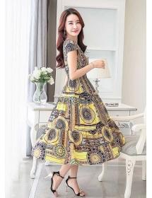 long dress motif batik D3286