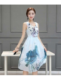 dress wanita import D3327