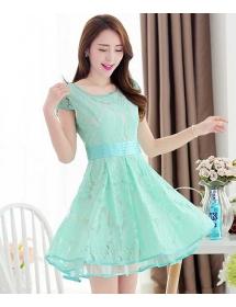 dress brukat korea D3346