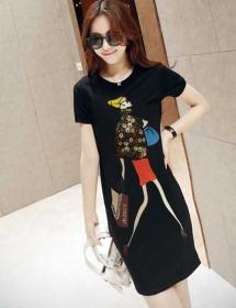 dress wanita import D3353