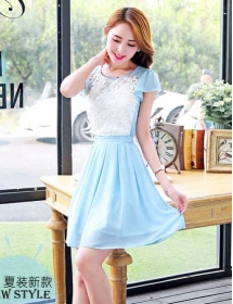 dress wanita import D3378