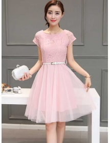 dress brukat korea D3395