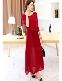 long dress chiffon D3413