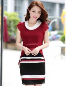 dress wanita import D3449