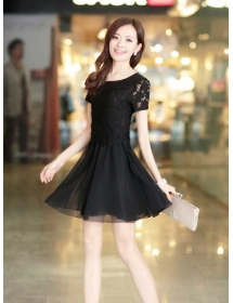 dress brukat D3453