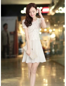 dress brukat D3454