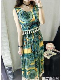 midi dress batik D3549