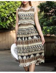 midi dress batik D3553