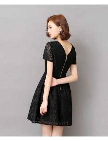 dress brukat korea D3584