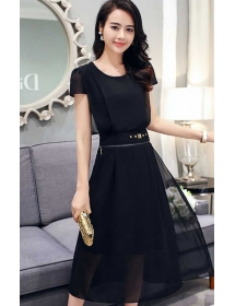 midi dress korea D3585