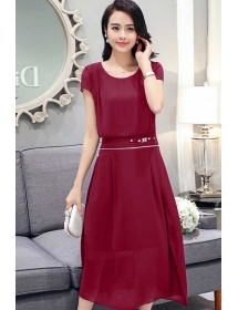 midi dress korea D3586