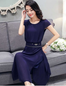midi dress korea D3587